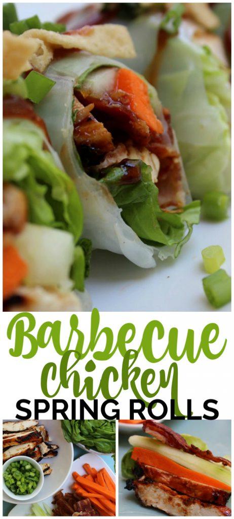 Barbecue Chicken Spring Rolls pinterest image