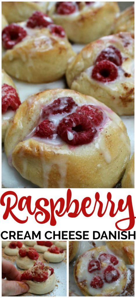 Easy Raspberry Cream Cheese Danish pinterest image