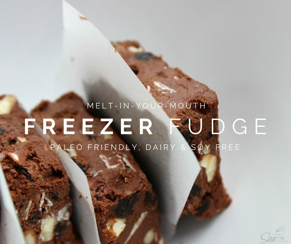Freezer Fudge is a rich decadent dessert made with simple ingredients! A perfect sweet treat for any occasion especially to curb your afternoon sweet tooth.
