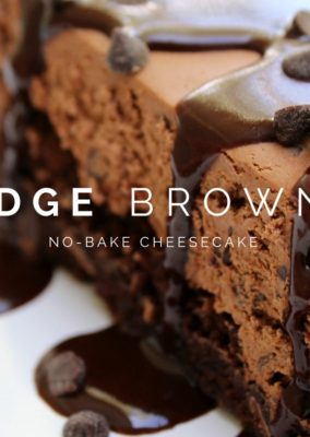Fudge Brownie No-Bake Cheesecake