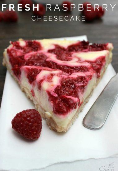 Fresh Raspberry Cheesecake
