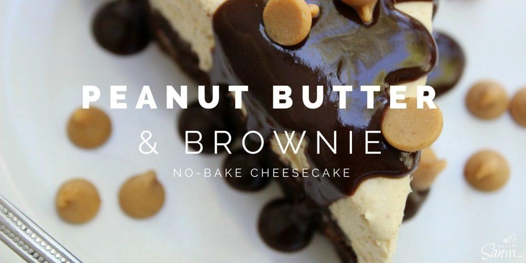 Peanut Butter & Brownie No-Bake Cheesecake Twitter