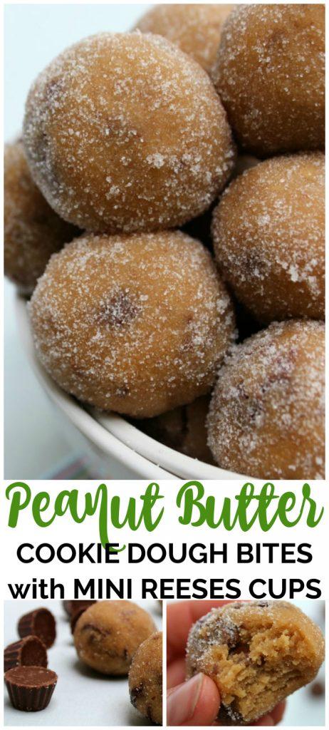 Peanut Butter Cookie Dough Bites Pinterest Image