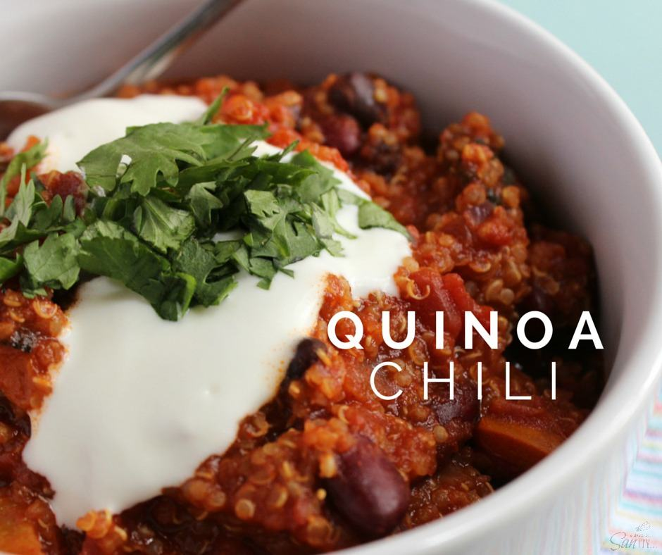 Quinoa Chili is comfort served in a bowl, guilt free. A traditional chili that is protein-packed with roasted peppers, tomatoes, and quinoa.