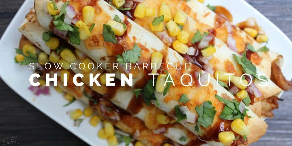 Slow Cooker Barbecue Chicken Taquitos Twitter