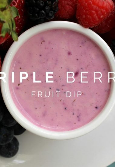Triple Berry Fruit Dip