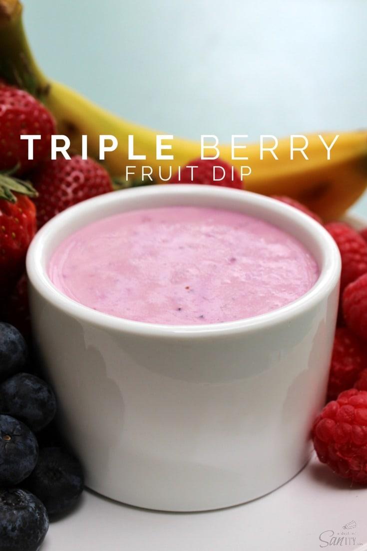 Triple Berry Fruit Dip