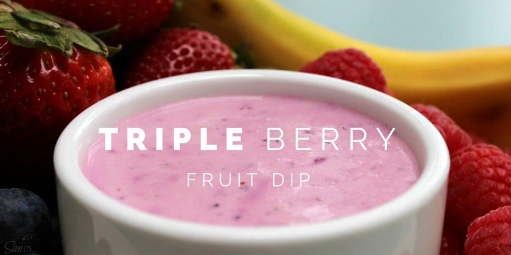Triple Berry Fruit Dip Twitter