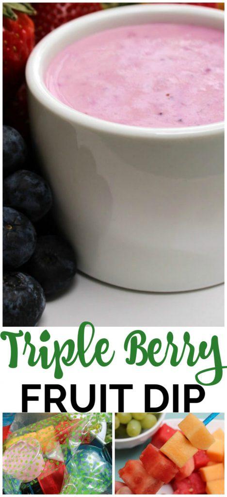 Triple Berry Fruit Dip pinterest image
