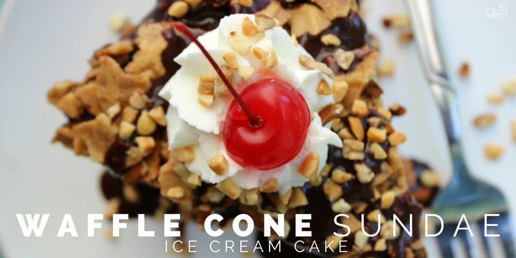 Waffle Cone Sundae Ice Cream Cake Twitter