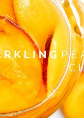 Sparkling Peach Cider
