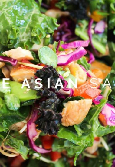 Asian Kale Salad with Sesame Ginger Vinaigrette