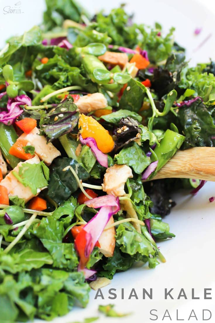 Asian Kale Salad with Sesame Ginger Vinaigrette Recipe