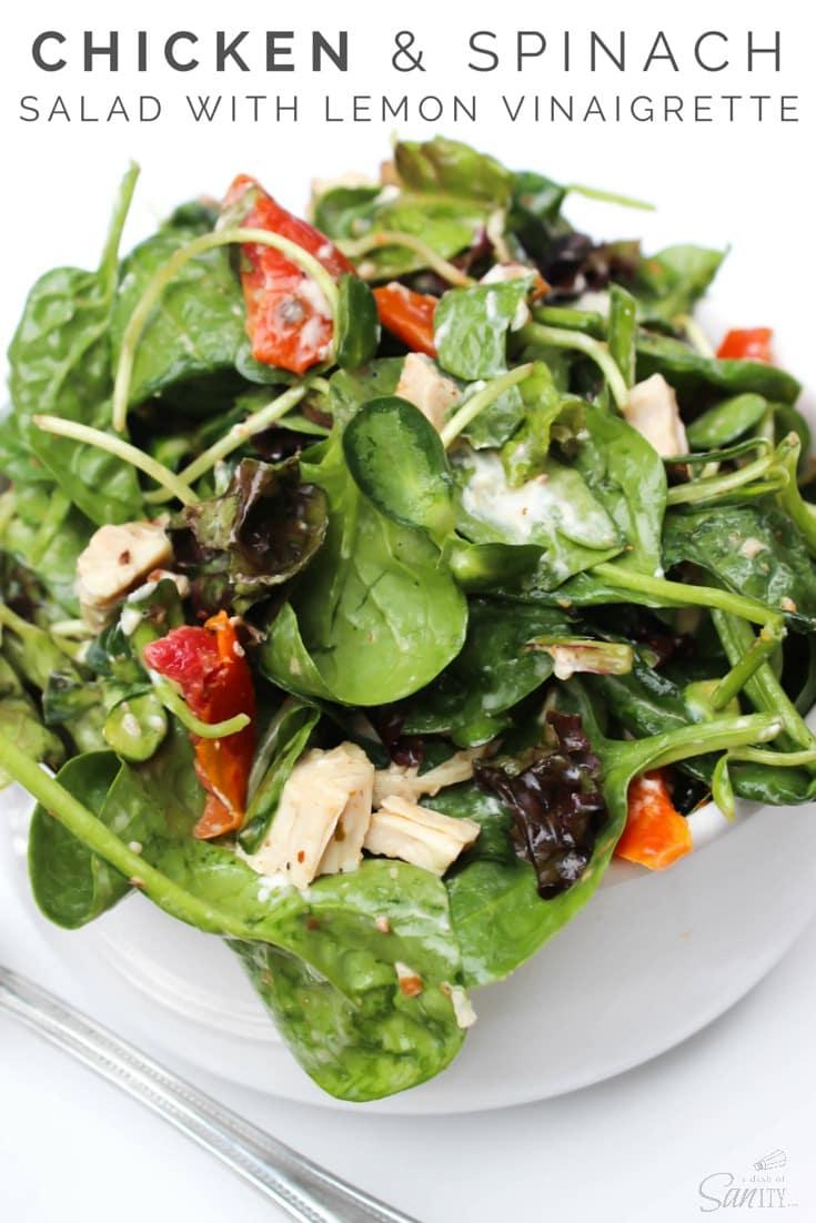 Chicken & Spinach Salad with Lemon Vinaigrette
