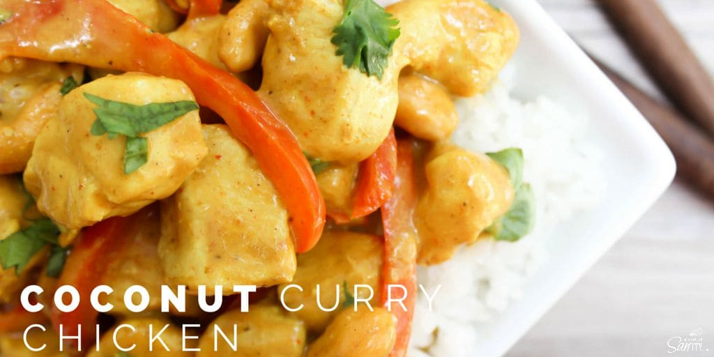 Coconut Chicken Curry a 30 minute insanely flavorful and delish meal ...