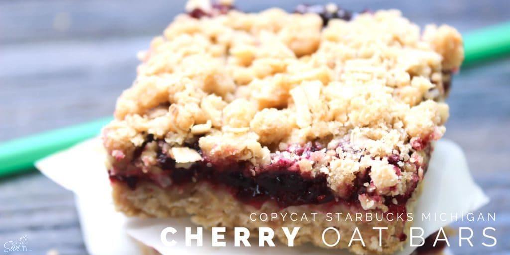 Copycat Starbucks Michigan Cherry Oat Bars Twitter