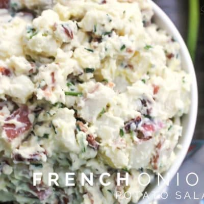 French Onion Potato Salad