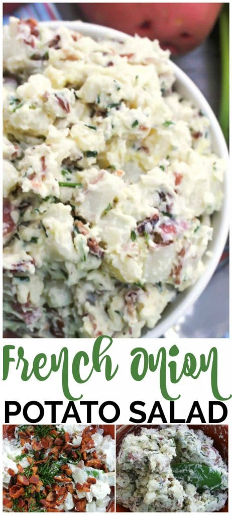 French Onion Potato Salad pinterest image