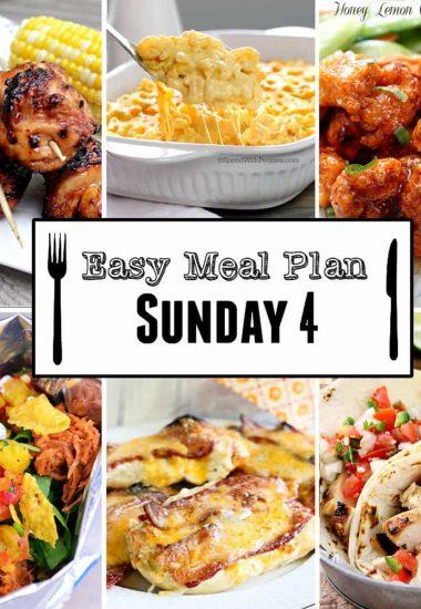 Easy Meal Plan Sunday {Week 4}