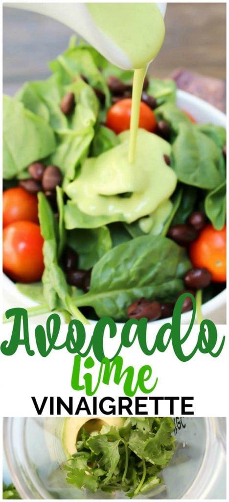 Avocado-Lime Vinaigrette pinterest image