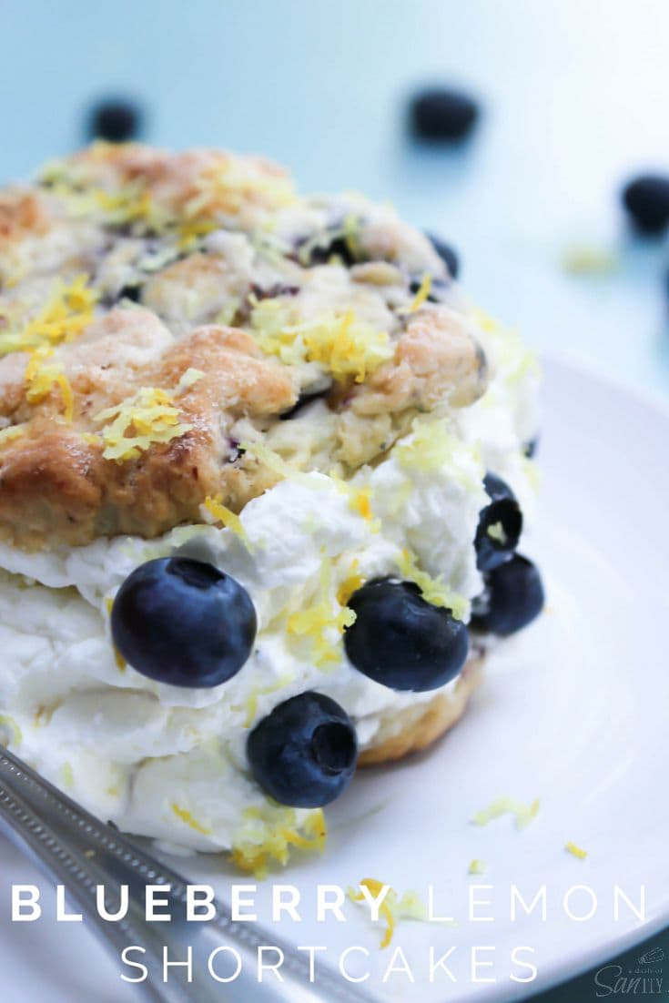 Blueberry Lemon Shortcakes