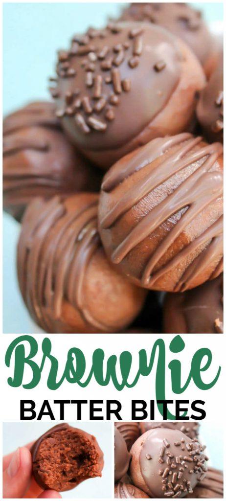 Brownie Batter Bites pinterest image