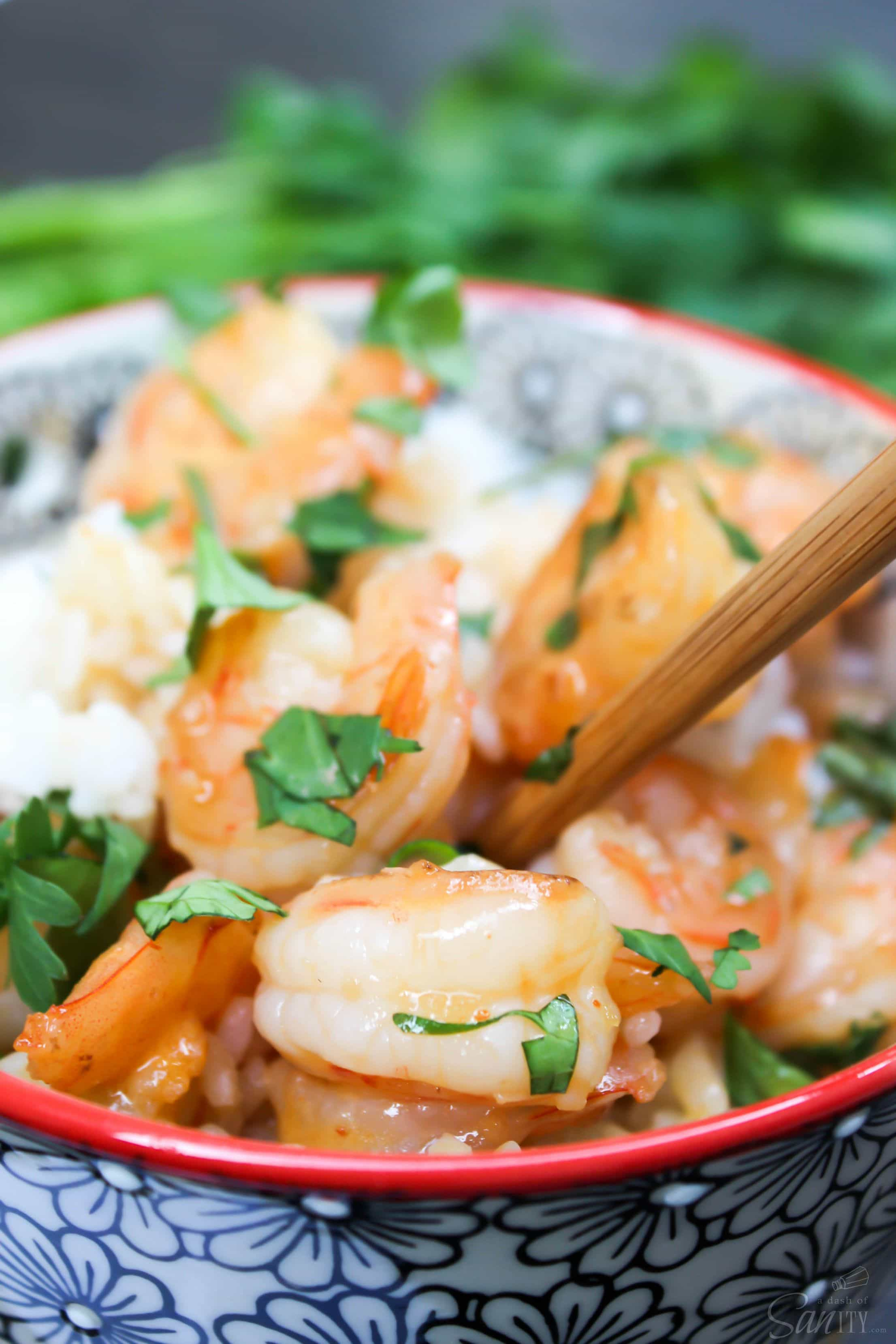 """This delicious Coconut Lime Shrimp is cooked in the most amazing sauce ever. It has become my favorite """"Thai"""" dish, I hope it will be yours too."""