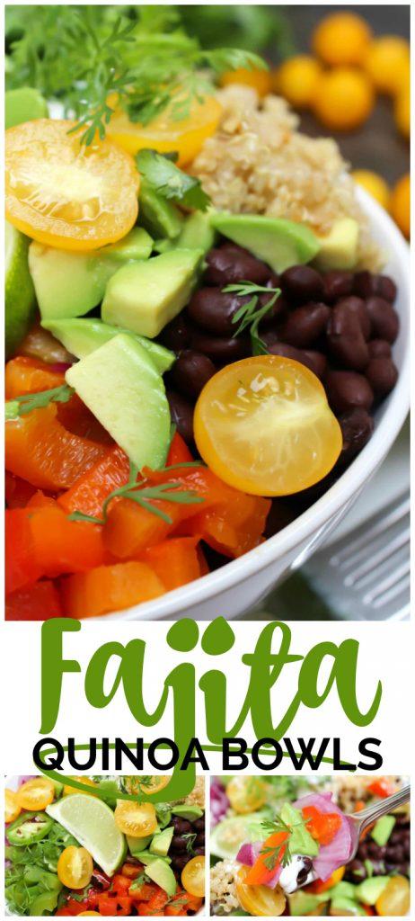 Fajita Quinoa Bowls pinterest image