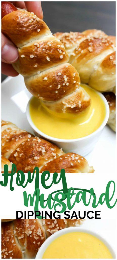 Honey Mustard Dipping Sauce pinterest image
