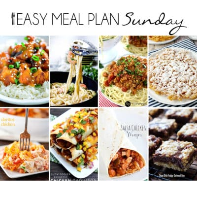 Easy Meal Plan Sunday {Week 7}