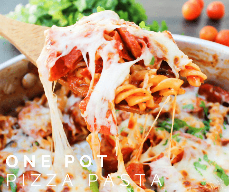 This One Pot Pizza Pasta is a dish the entire family will love, plus it's ready in just 30 minutes! Dinner cannot get any easier or more delicious.