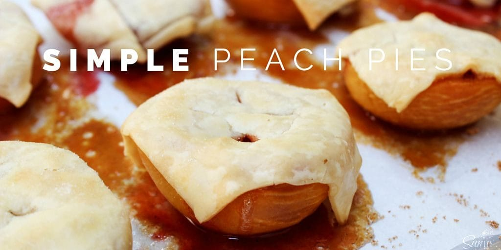 """These Simple Peach Pies are the perfect """"pie"""" without all the hassle. These pies are easy yet delicious. You will never think of pie the same way again."""
