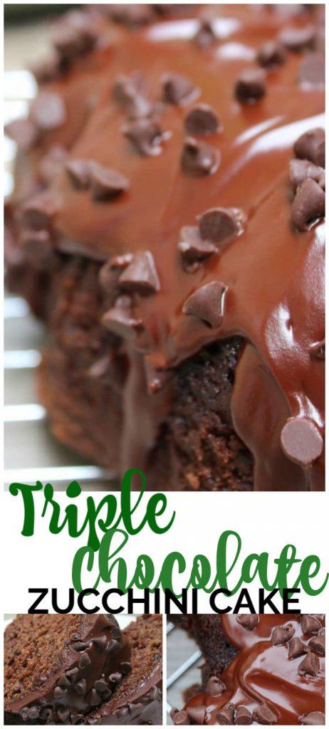 Triple Chocolate Zucchini Cake pinterest image
