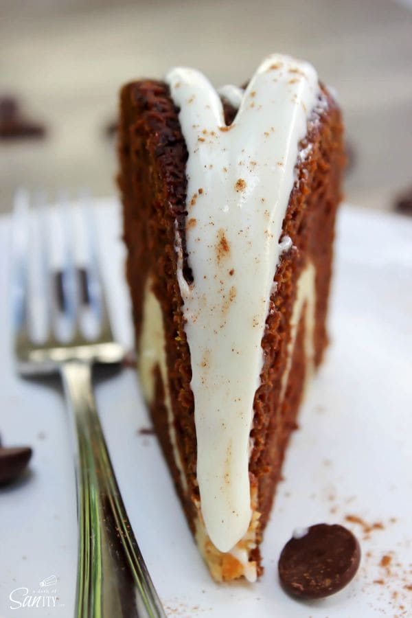 Chocolate Pumpkin Cream Cheese Swirl Cake is a gorgeous, rich, decadent pumpkin cake. A perfect center piece for your table that will be quickly devoured.