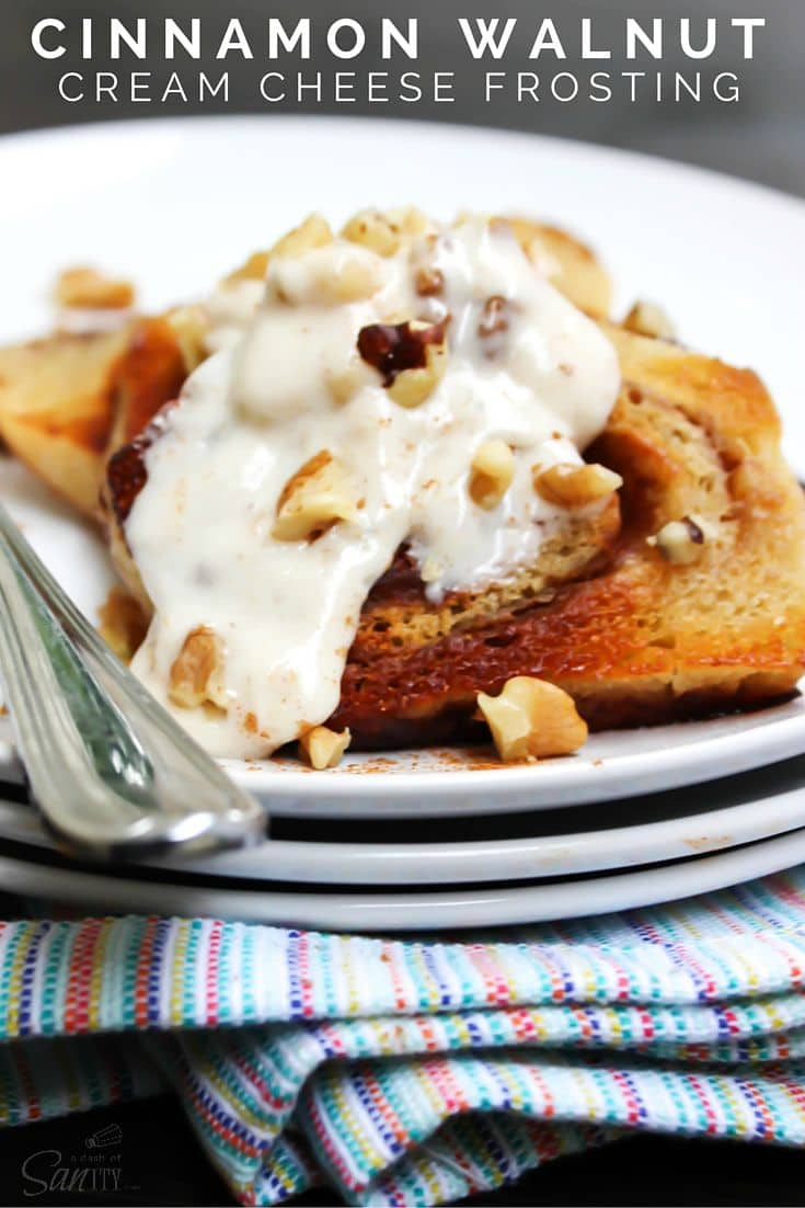 Cinnamon Walnut Cream Cheese Frosting