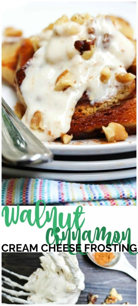 Cinnamon Walnut Cream Cheese Frosting pinterest image