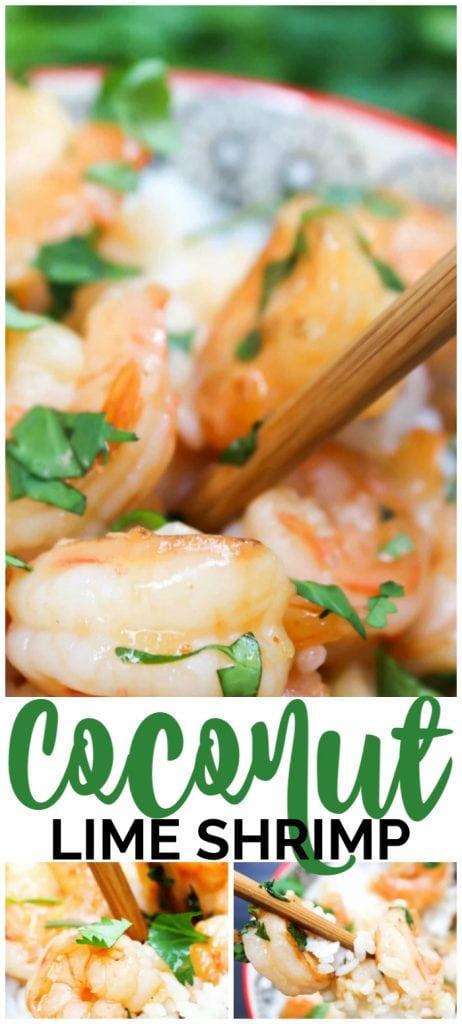 Coconut Lime Shrimp pinterest image