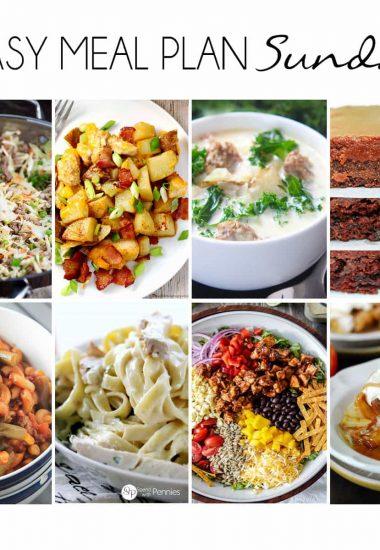 Easy Meal Plan Sunday {Week 12}