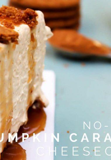 No-Bake Pumpkin Caramel Cheesecake