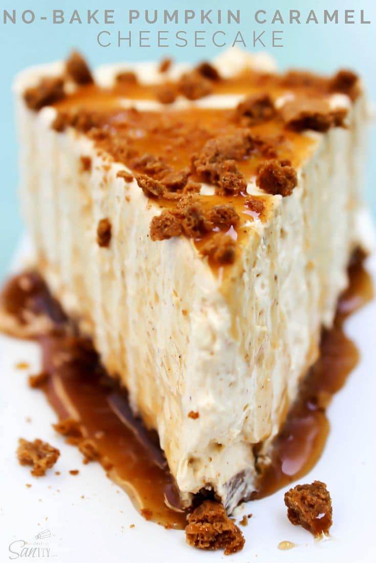 No-Bake Pumpkin Caramel Cheesecake