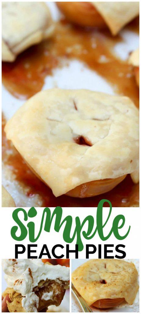 Simple Peach Pies pinterest image (1)