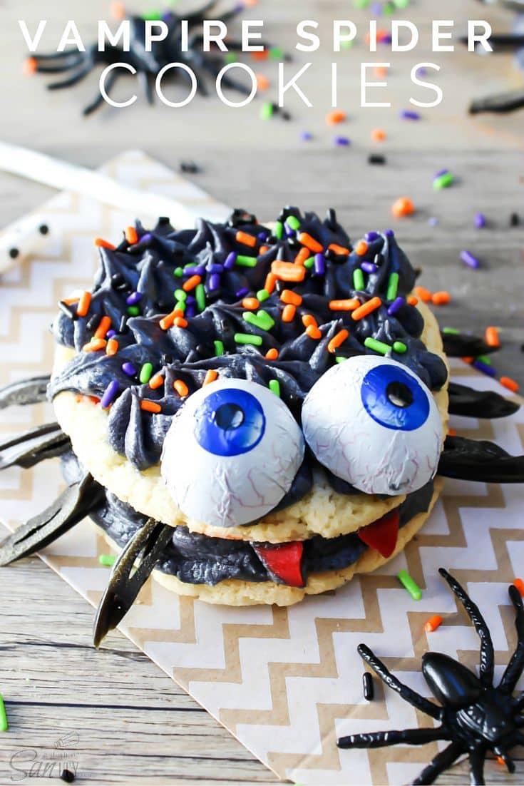 Vampire Spider Cookies