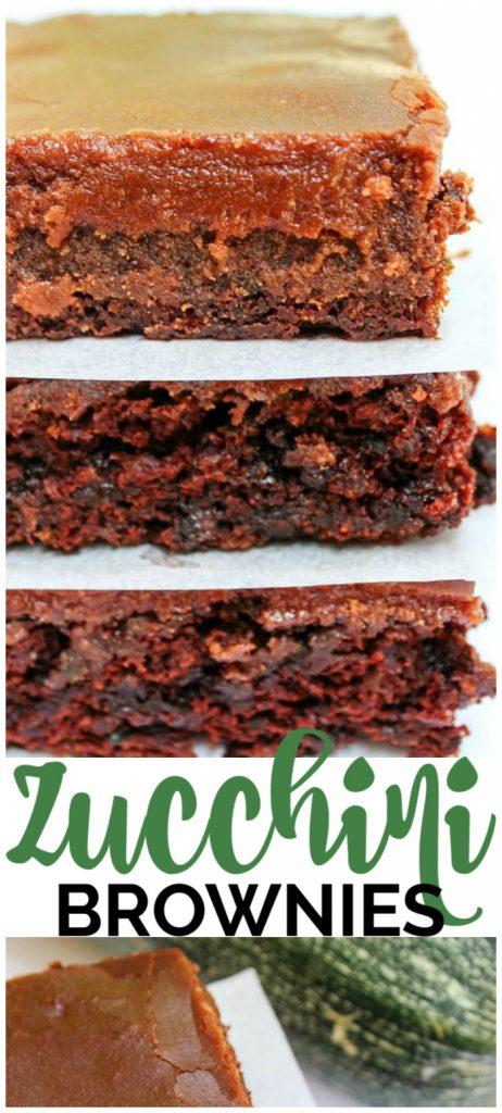 Zucchini Brownies pinterest image