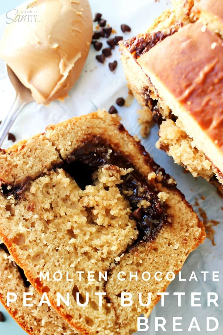 Molten Chocolate Peanut Butter Bread