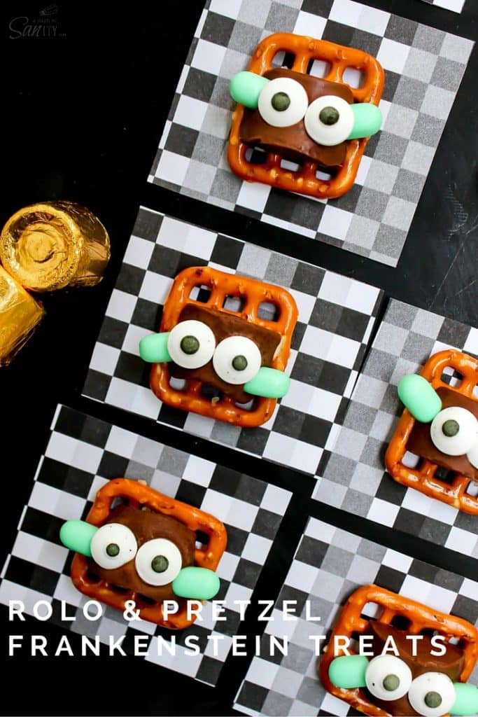 Rolo & Pretzel Frankenstein Treats.
