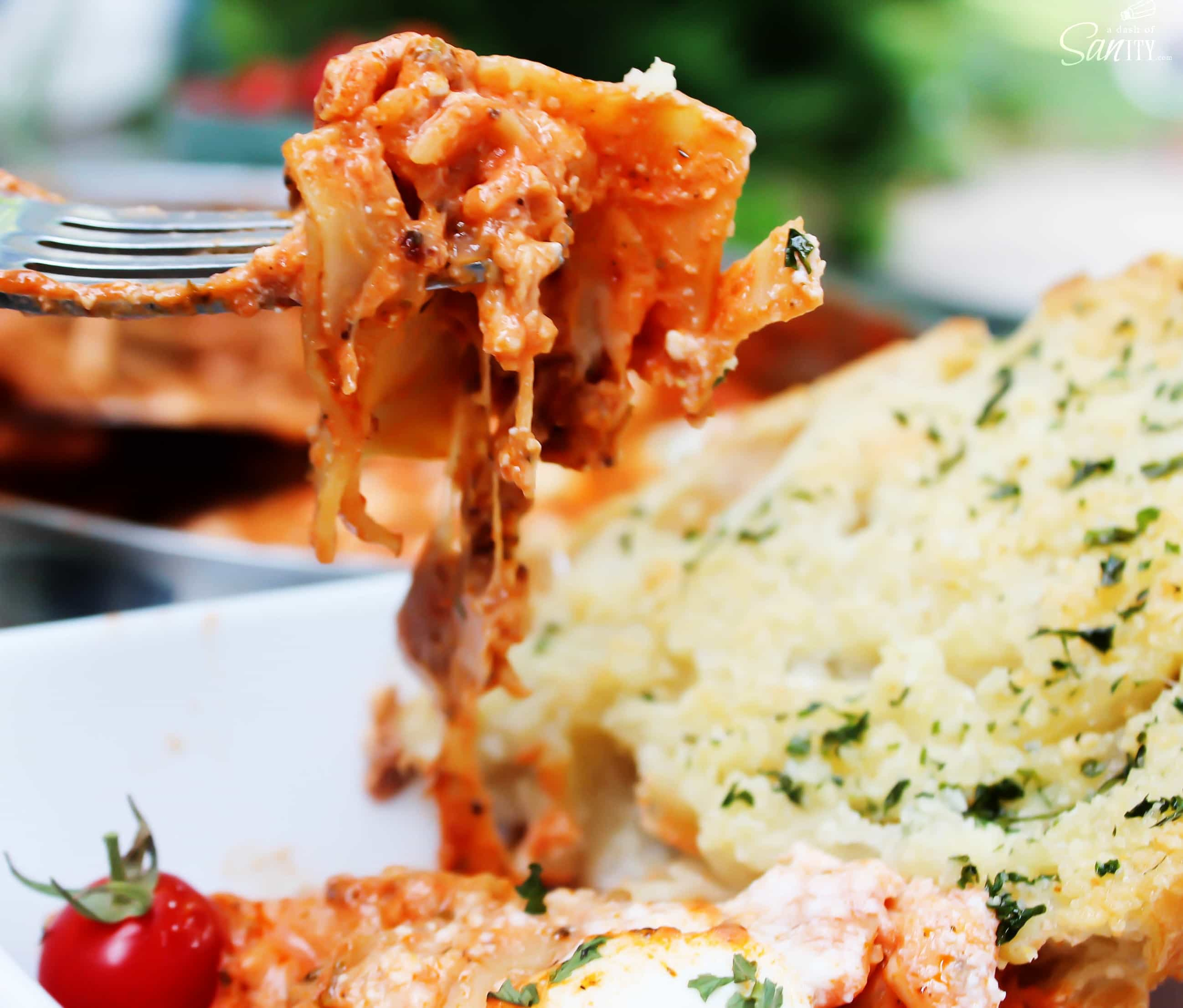This Easy Skillet Lasagna is comfort food made in just one pot. This 25 minute meal is easy to make, with simple ingredients, and beyond delicious.