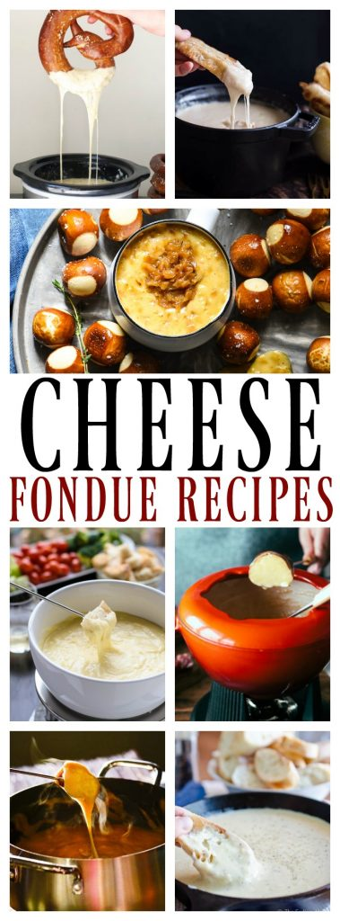 13 Festive Cheese Fondues collage