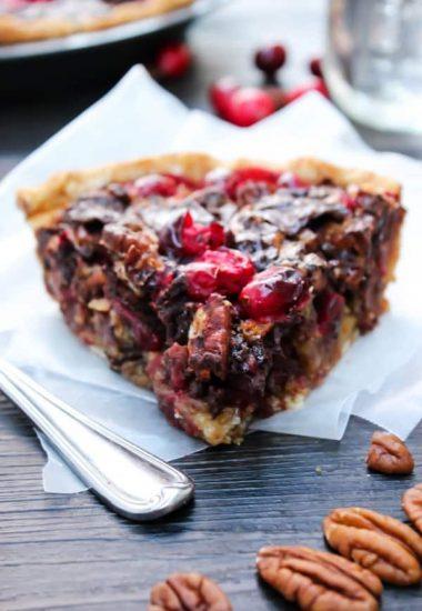 Chocolate Pecan Cranberry Pie