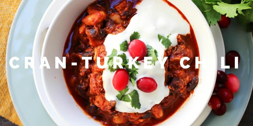 This Cran-Turkey Chiliis your Thanksgiving leftover turkey reconstructed into an easy, delicious chili dinner using traditional holiday ingredients.