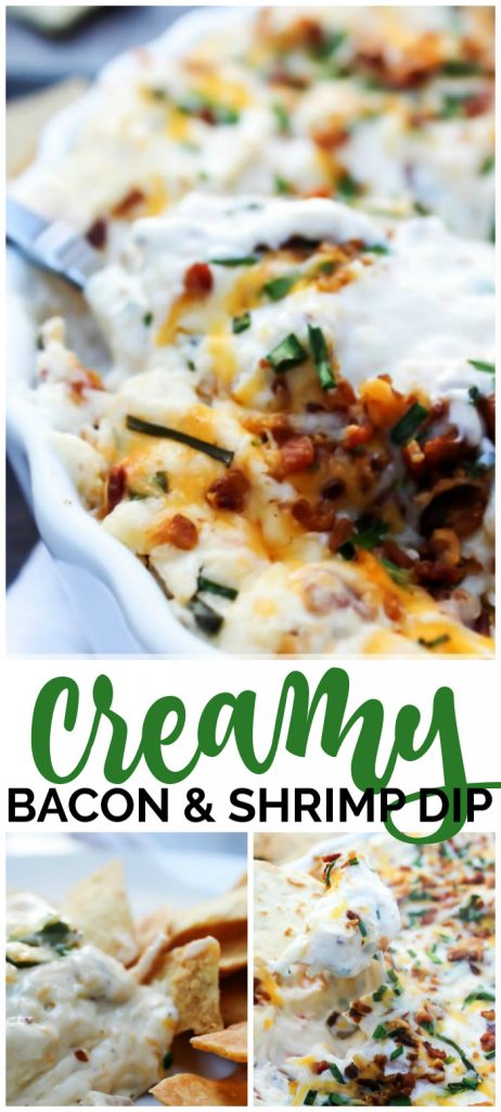 Creamy Bacon & Shrimp Dip pinterest image